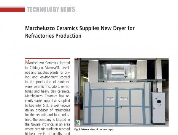 Eco-Inter (Ita) adopts new refractory drying technologies