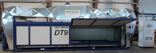 TEST DRYER FOR REFRACTORIES ROLLS