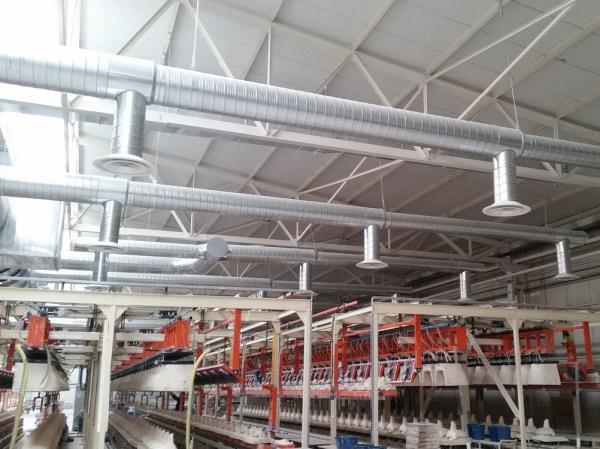 Sistema acondicionamiento sala de colada