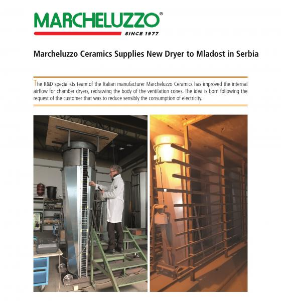 Marcheluzzo S.p.A. supplies New Dryer to Mladost in Serbia