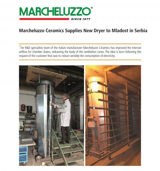 Marcheluzzo S.p.A. suministra un nuevo secador a Mladost en Serbia